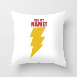 Shazam (Say My Name!) DC Comics Fan Art Throw Pillow