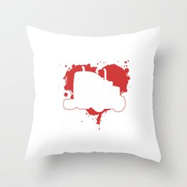My Heart Belong to a Trucker Gift The More I Play Throw Pillow