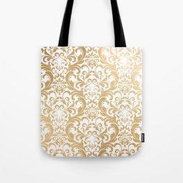 Gold swirls damask #2 Tote Bag