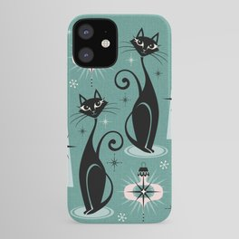 Mid Century Meow Atomic Kitty Christmas ©studioxtine iPhone Case