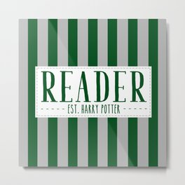 Reader Est. Slytherin Metal Print
