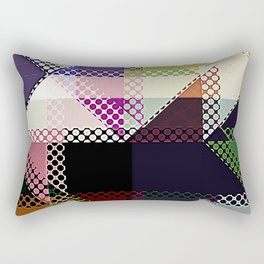 Pattern Multi Color Abstract Rectangular Pillow