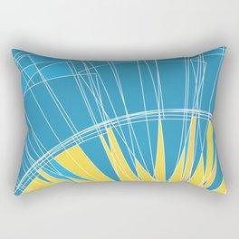 Abstract pattern, digital sunrise illustration Rectangular Pillow