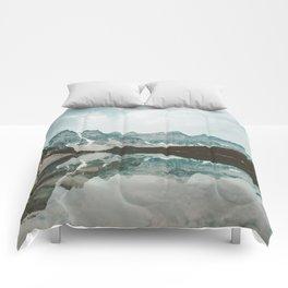 Moraine Lake Mountain Reflection Summer Comforters