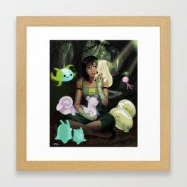 Korra and Spirits Framed Art Print
