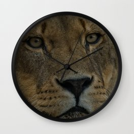 Lioness Portrait Wall Clock