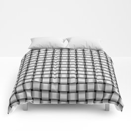Small Pale Gray Weave Comforters