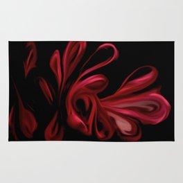 Red Velvet Ribbons Rug