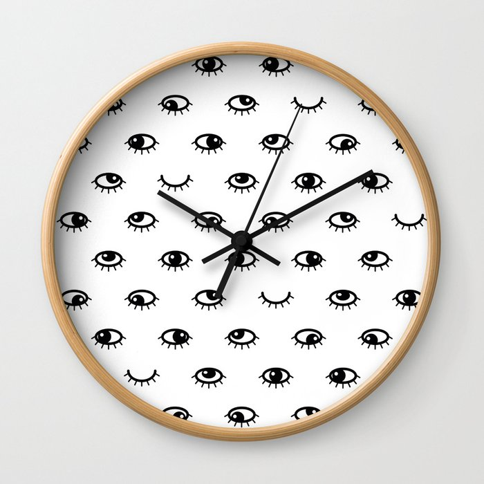Black eyes Wall Clock