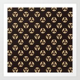 Traditional Japanese pattern TSURU-MARU Art Print