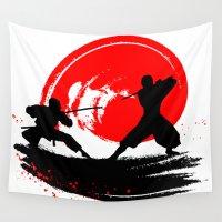 ninja Wall Tapestries featuring Ninja by Emir Simsek
