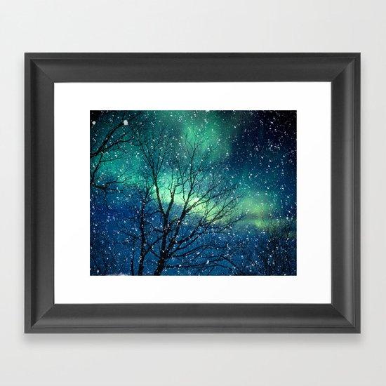 Aurora Borealis Northern Lights Framed Art Print