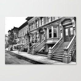 City life black and white Canvas Print