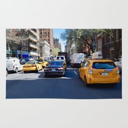 The busy streets of New York Rug