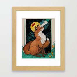 Too clever fox Framed Art Print
