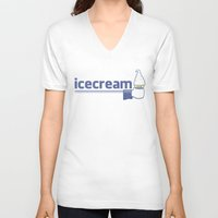 icecream V-neck T-shirts featuring icecream social by dicom