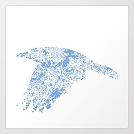 The Blue Rook Art Print