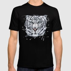 White Tiger Mens Fitted Tee MEDIUM Black