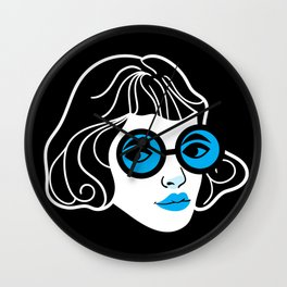 Lookout! Blue Version Wall Clock