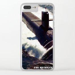 USS MICHIGAN (SSBN-727) Clear iPhone Case