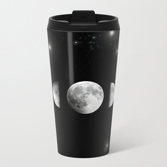 Stars and Moons Metal Travel Mug
