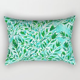FRONDLY FRONDS Green Leaves Rectangular Pillow