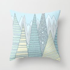 Summer Mountains Throw Pillow
