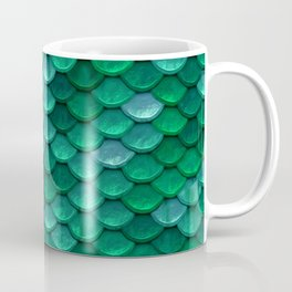 Green Penny Scales Coffee Mug