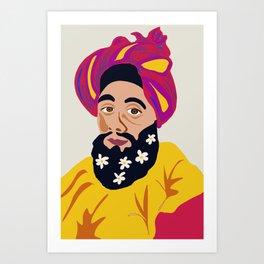 Groovy guru Art Print