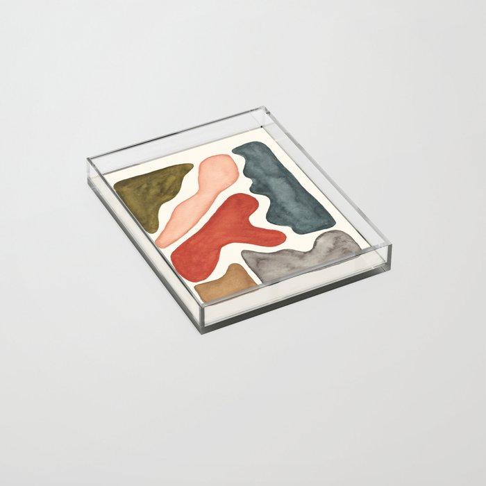 Blob Watercolor Acrylic Tray