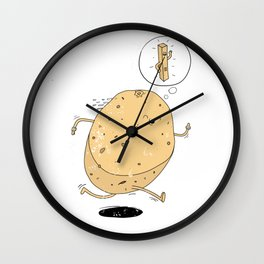 Keep Fit Goals Wall Clock
