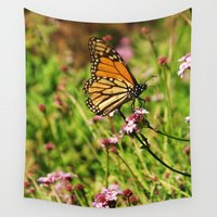 fairytale Wall Tapestries featuring Monarch Fairytale by RichCaspian