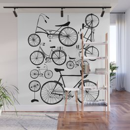 Bicycle Art Black and White - Bikes Wall Mural