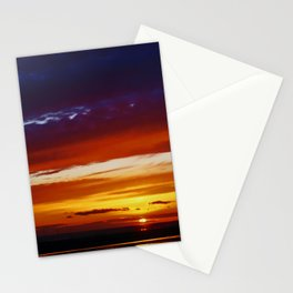 Liverpool Bay at sunset Stationery Cards