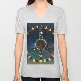Solar Eclipse – Peace on Earth Unisex V-Neck