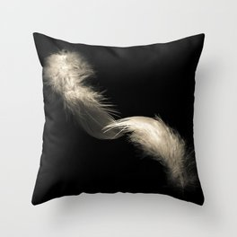 Two feathers in black and white Throw Pillow