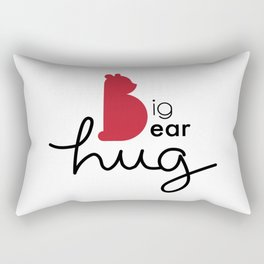 Big Bear Hug Rectangular Pillow