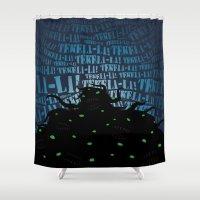 lovecraft Shower Curtains featuring Lovecraft Shoggoth 2 by Steve Santiago