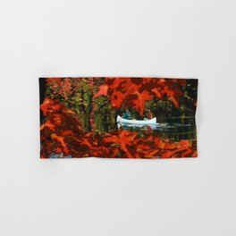 Autumn canoeing Hand & Bath Towel