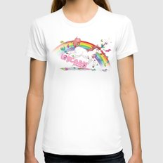 Unicorn: Destroyer of Ponies! White MEDIUM Womens Fitted Tee