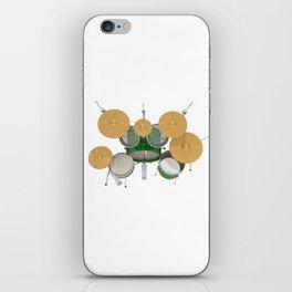 Green Drum Kit iPhone Skin
