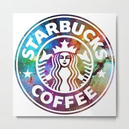 Galaxy Starbucks coffe Metal Print