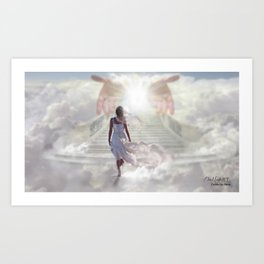COME UP HERE - DAVID MUNOZ ART Art Print