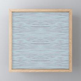 Meteor Stripes - Light Blue Framed Mini Art Print
