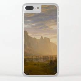 Looking Down Yosemite Valley, California Clear iPhone Case