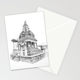 Temple in Kathmandu Stationery Cards