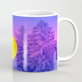 Winter Delight with Fir Trees Coffee Mug