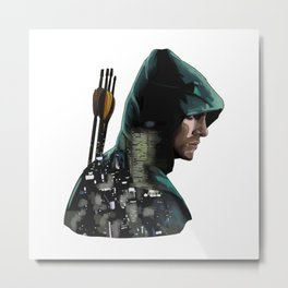 Green Arrow + Star City Metal Print