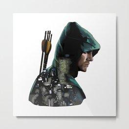 Green Arrow + Star City Metal Print