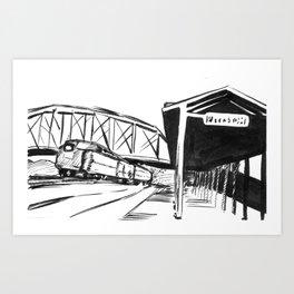 Slow Train Coming Art Print